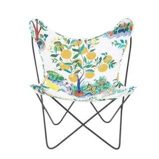 Vintage Citrus Garden Butterfly Chair For Sale