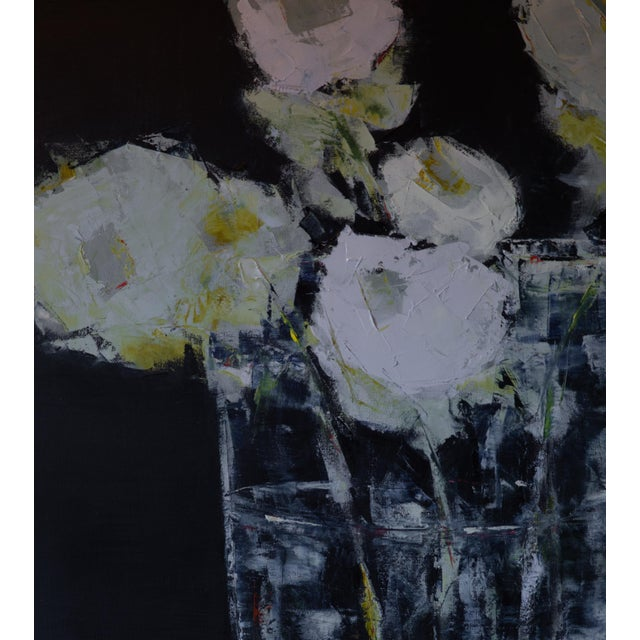 "Bill Tansey ""Clear Vase"" Abstract Floral Oil Painting on Canvas For Sale In New York - Image 6 of 6"