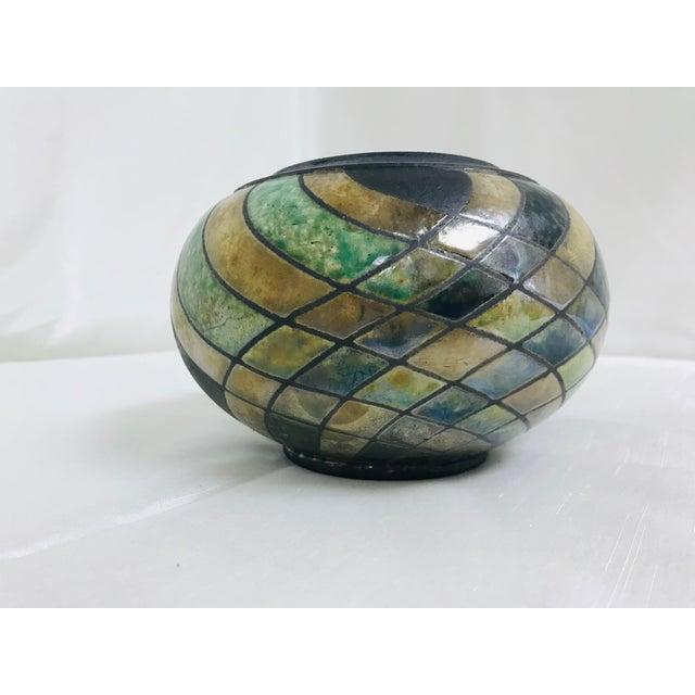 Vintage Studio Luster & Matte Pottery Table Vase For Sale - Image 4 of 8