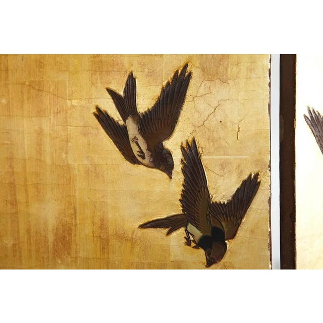 Gold Chinese 12-Panel Double Sided Gold Black Lacquered Coromandel Screen For Sale - Image 8 of 10