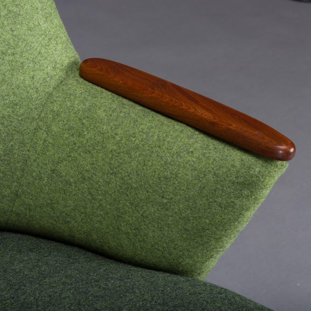 Edgy Danish Reupholstered Green Sofa from CFC Silkeborg, 1960s For Sale - Image 12 of 13