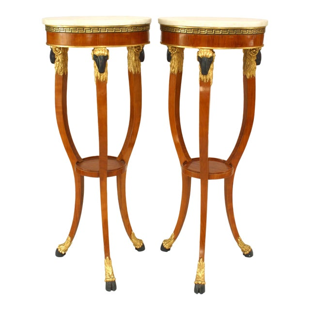 20th Century Italian Neoclassic Style Pedestals - a Pair For Sale
