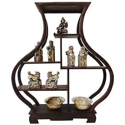 10-Piece Miniature Wood Stand & Decor Set For Sale