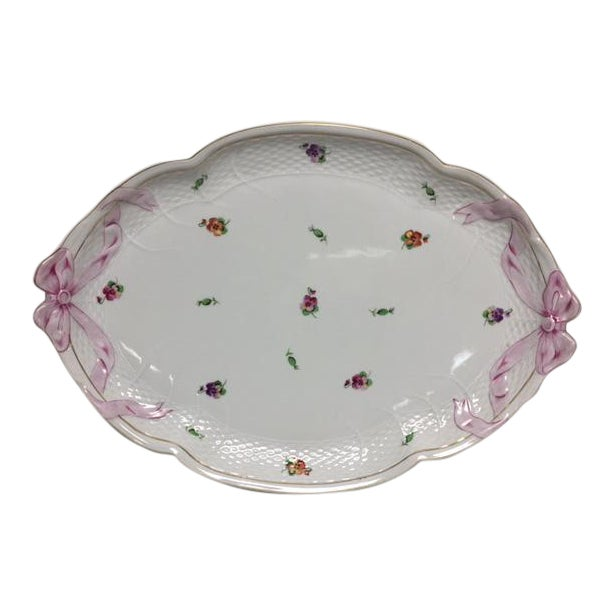 Herend Printemps Oval Ribbon Tray - Image 1 of 7