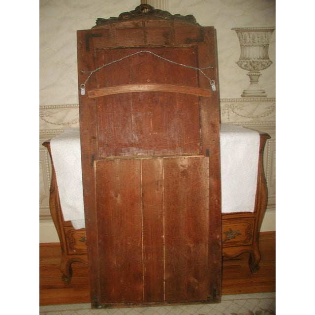 French Trumeau Mirror Canvas Oil Painting, 19th C. - Image 3 of 8