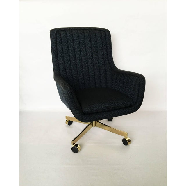 Eight high-quality swivel chairs designed by Ward Bennett, American, 1917-2004 for Brickel Associates, circa 1984. In...