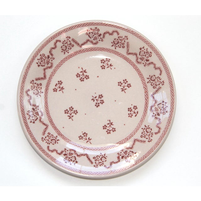 Set of 8 Petite Fleur Pink Bread and Butter Plates, by Laura Ashley, discontinued. all in excellent vintage condition,...