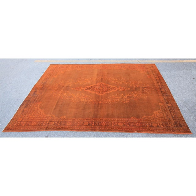 Tribal Vintage Orange Turkish Rug with pure wool. These are older rugs which have different feel then Classic Wool on...