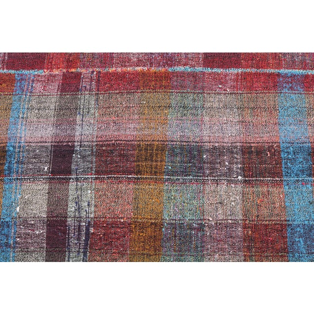 Vintage Turkish Multi-Color Hand Made Flatweave Rug - 6′8″ × 10′8″ - Image 3 of 5
