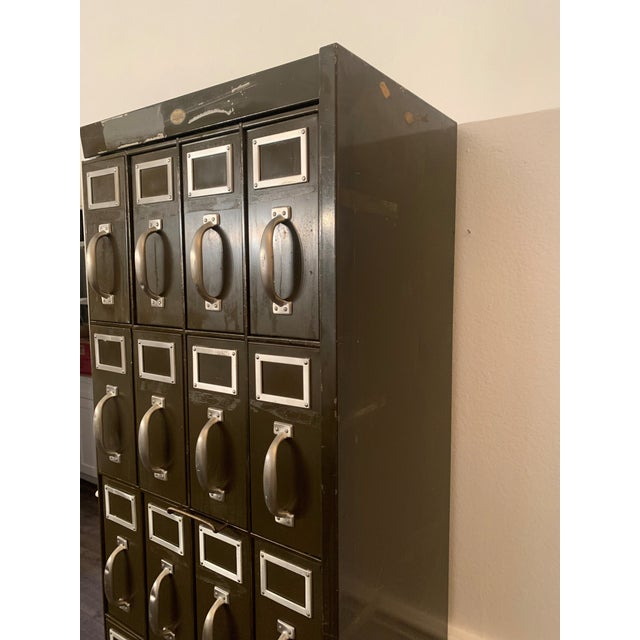 Mid 20th Century Mid 20th Century Vintage Industrial Filing Cabinet 24 Drawer For Sale - Image 5 of 12