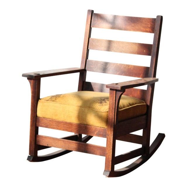 1900s Antique L & Jg Stickley Rocking Chair For Sale