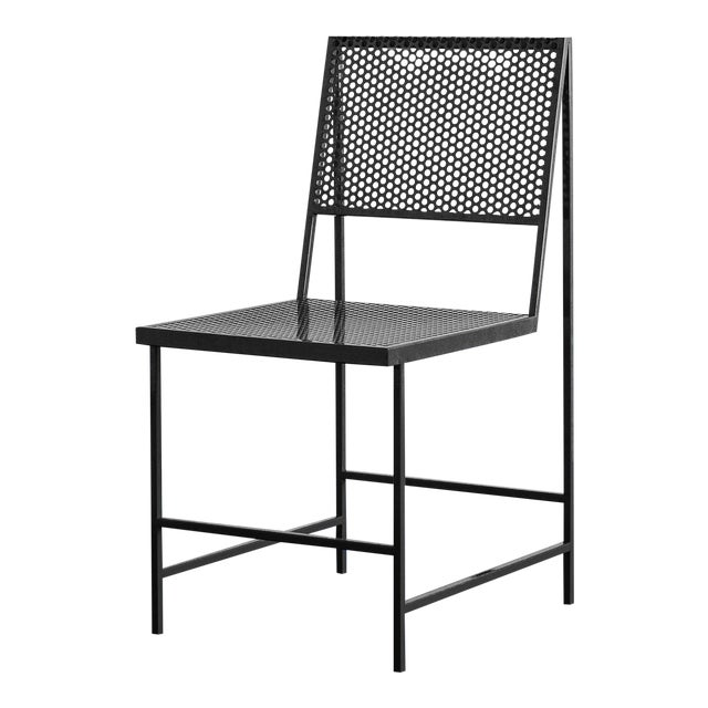 Flux Dining Chair in Black Oxide by The Foreman Brothers For Sale