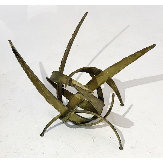 1960s Silas Seandel Brutalist Torch Cut Sculpture Coffee Table Base, Circa 1960s For Sale - Image 5 of 11