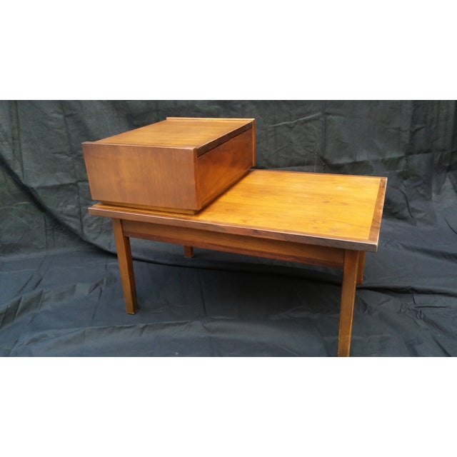 Stanley Mid-Century Modern Tiered Side Table - Image 3 of 8