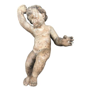 19th Century Wooden Putti For Sale