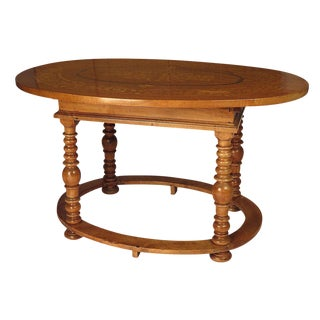1850 Baroque Fruitwood Inlaid Center Table