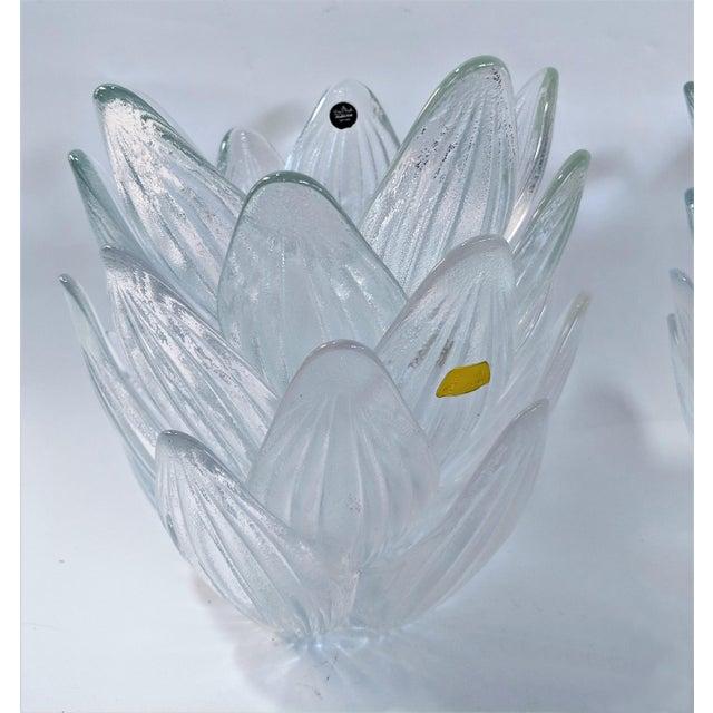 Rosenthal Studio Line Bleikristall German Glass Flower Petal Bowls - Set of 10 For Sale - Image 12 of 13
