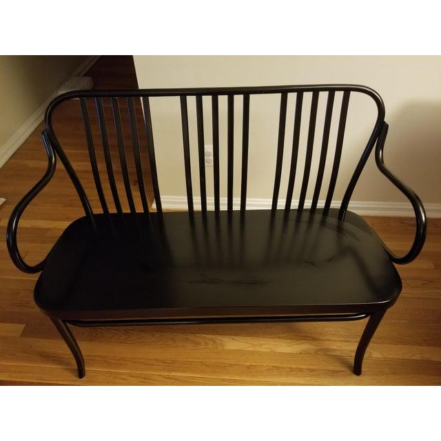 Crate & Barrel Black Sonny Bench - Image 2 of 4