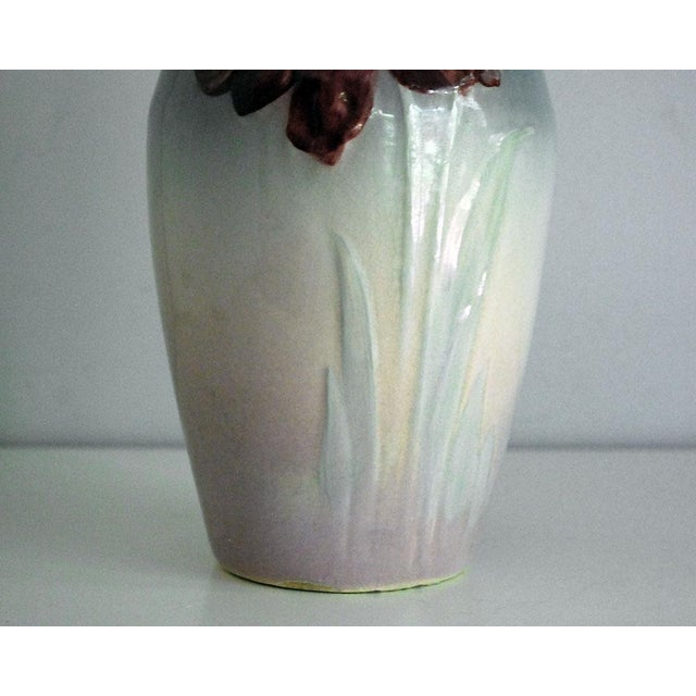 Antique Weller Pottery Gray And Pink Etna Vase Chairish