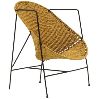 John Salterini Childs Chair, Wrought Iron and Wicker For Sale