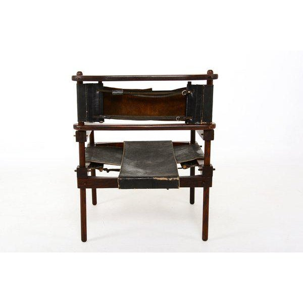 """For your consideration an original and very rare """"PERNO"""" safari chair by Don Shoemaker. Exotic Cocobolo wood with original..."""