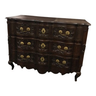 18th Century French Louis XV Dark Wood Commode