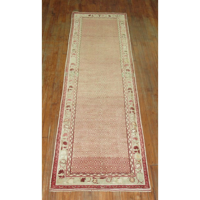 One of a kind, mid 20th-century hand-knotted Turkish anatolian runner. Professionally washed & personally vetted. Ready...