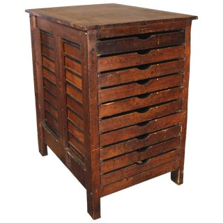 Hamilton Letterpress Cabinet For Sale