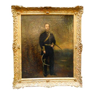 Alexander Melville Portrait of a Mexican Officer C 1865 For Sale