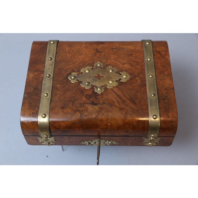 Antique English Games Compendium, Lock & Key For Sale In Houston - Image 6 of 9