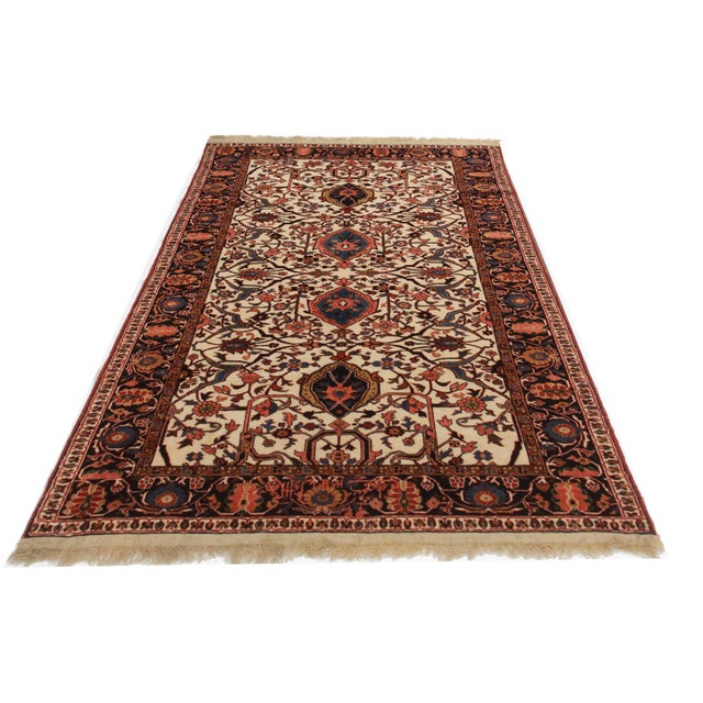 Hand Knotted Wool Persian Joshan Rug - 4′ × 5′9″ - Image 2 of 2