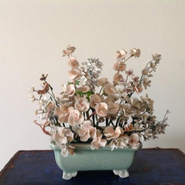 Mid-Century Modern Vintage Shelled Floral Arrangement For Sale - Image 3 of 3