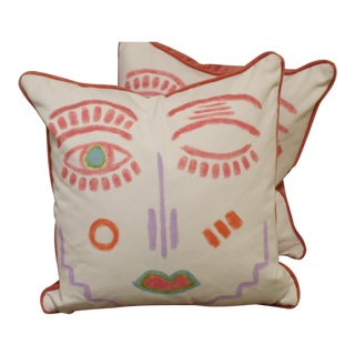 Pair of Picasso Pillows For Sale