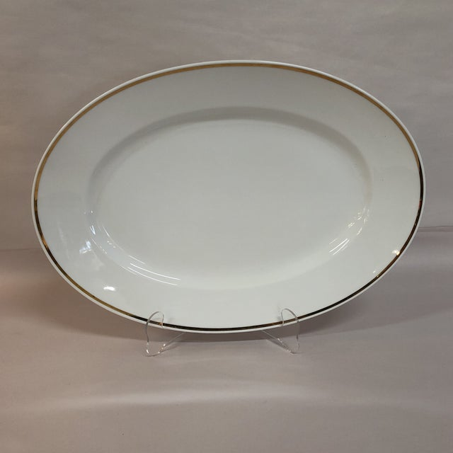 Italian Oval Platter Gilt Rim by Ginori For Sale - Image 6 of 6