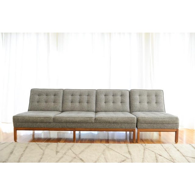 Custom Gray Modern Sofa - Image 2 of 7