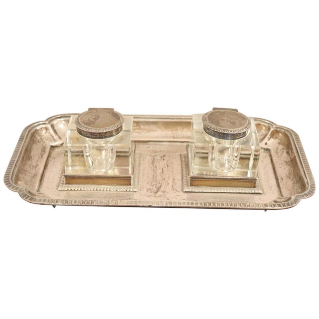 19th Century Silver Inkwell by j.g &S John Grinsell & Sons, London 1897 For Sale - Image 10 of 10