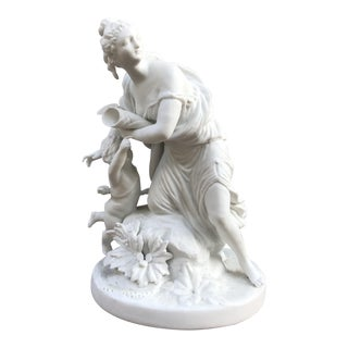1920s French Bisque Porcelain Statue