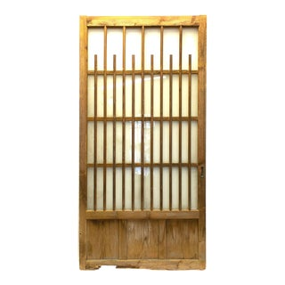 Japanese Cedar and Glass Machiya Exterior Panel For Sale