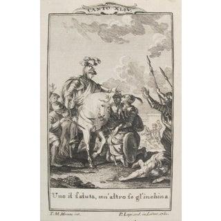 1781 Italian Engraving, Divine Comedy (Dante Alighieri) Canto 44 For Sale