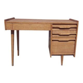 Vintage Crawford Furniture Single Pedestal Maple Desk