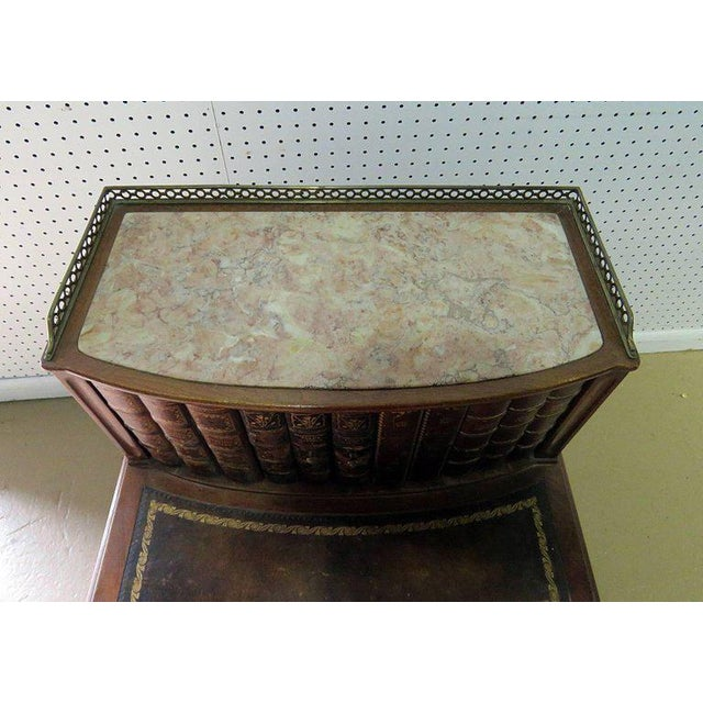 Early 20th Century Marble-Top Louis XIV Style Step End Table For Sale - Image 5 of 10