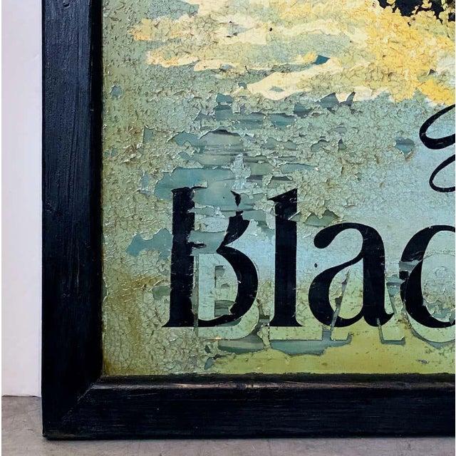 "Metal Vintage English Pub Sign, ""The Black Swan"" For Sale - Image 7 of 13"