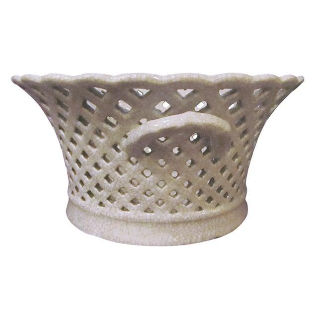 Lattice Ceramic Pottery Bowl For Sale