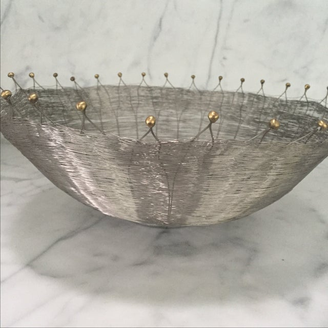 Silver Wire Basket For Sale - Image 5 of 6