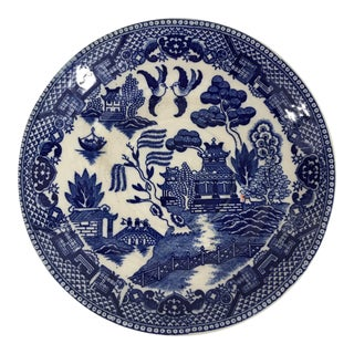 Antique Blue Willow Plate For Sale