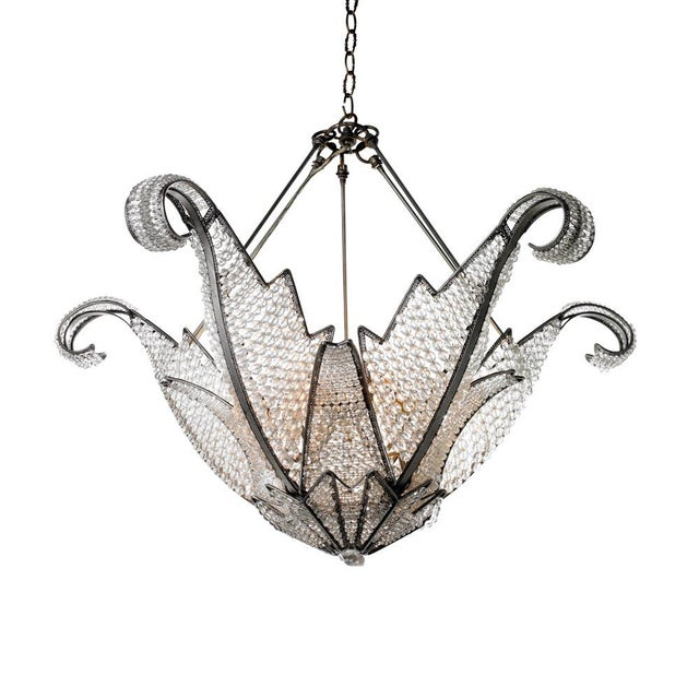 Jeweled Swan Chandelier - Image 1 of 7