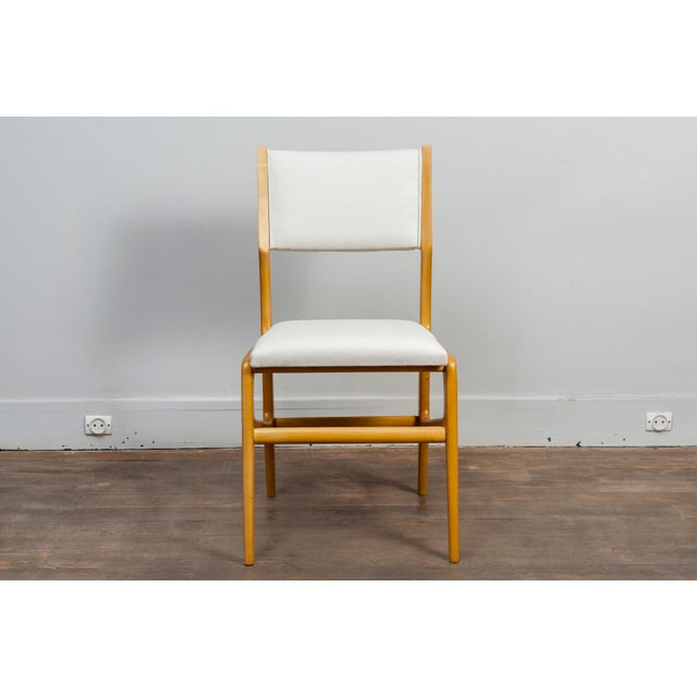 Cassina Set of 12 Gio Ponti Ash Chairs, Model 687, Italy, 1953 For Sale - Image 4 of 9