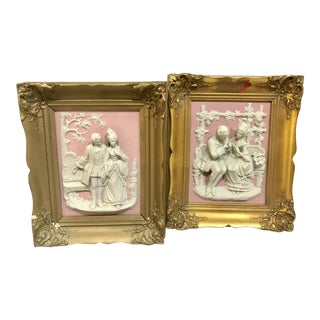 1930s Cottage Dresden Wall Plaques - a Pair For Sale