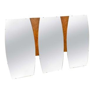 Mid-Century Modern Large Burl Wood Mirror For Sale