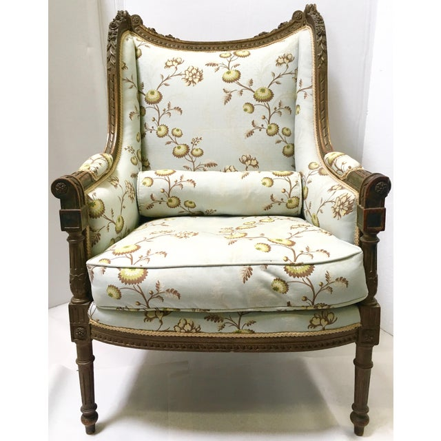 Antique French Wingback Chair - Image 2 of 9